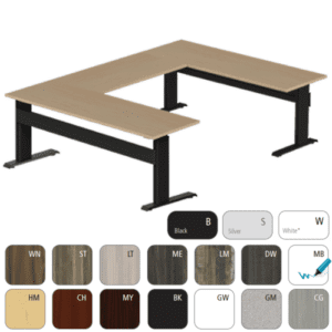 Rectangular Eficiente LT Right Angle 90-Degree Electric Height Adjustable Desk