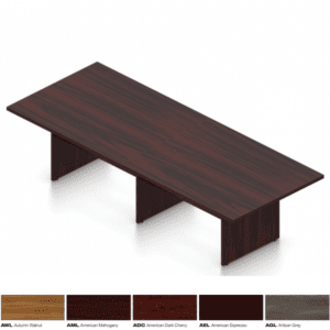 10' x 4' Rectangle Conference Table American Mahogany Finish