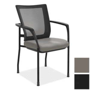 Anti-Microbial Vinyl Guest Chair with Mesh Back