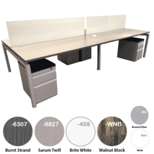 Modular team desks from office furniture distributors - stocked in Texas