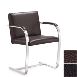 Cantilever Guest Chair - Black or Brown Leather