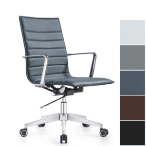Joe Mid Back Office Chair in Charcoal Blue