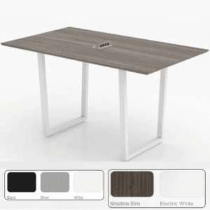 360 Standing Height Table with In-Set Power Module