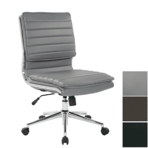 Charcoal Gray Leather Finish
