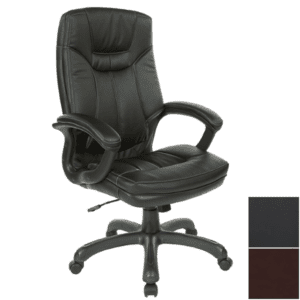 Values High Back Executive Chair - Black Bonded Leather