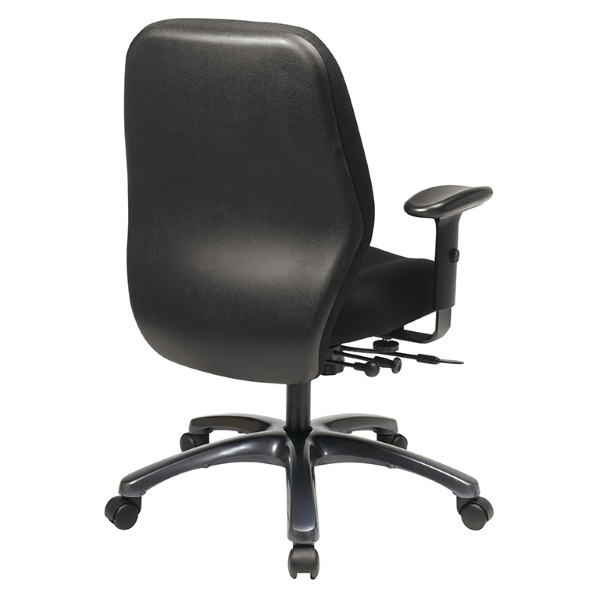 Values 54666 Black Fabric Office Task Chair - Rear View