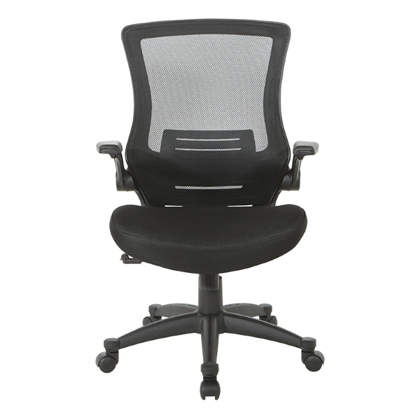 Values Flip Arm Mesh Office Chair - Facing View