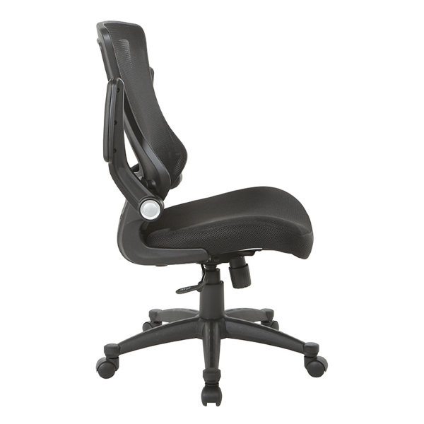 Values Flip Arm Mesh Office Chair - Flip Arms in Up Position