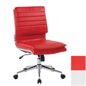Red Armless Office Chair