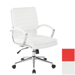 White Mid Back Managers Chair