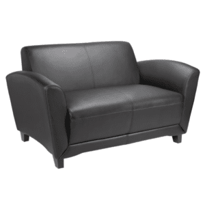 Black Leather Loveseat for Two