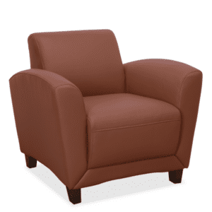 Tan Leather Reception Chair