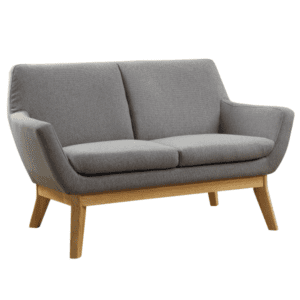 Mid Century Loveseat with Wood Frame Base