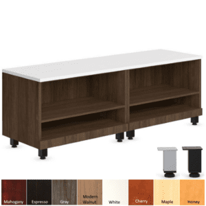 Open Storage Bench with Mini Steel Legs in 2 Finish Colors